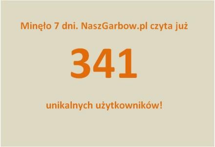 Nasz wielki sukces! Tydzień od startu serwisu, mamy już 341 unikalnych użytkowników naszej witryny.