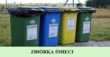 Informacja dotycząca pojemników na śmieci