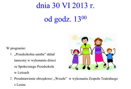30 czerwca 2013 – Leśce zapraszają na festyn!