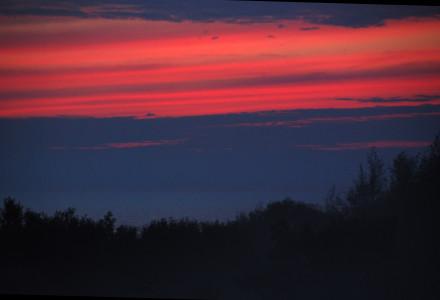 Morze Bałtyckie wczesną nocą – granica litewsko-łotewska. Lipiec 2013.