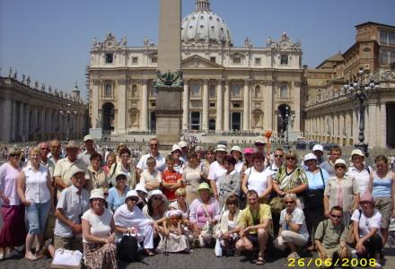 Pielgrzymka do grobu Jana Pawła II w Watykanie 20-29 czerwca 2008 roku