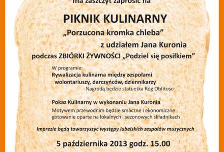 """Piknik kulinarny """"Porzucona kromka chleba"""" z udziałem Jana Kuronia – zapraszamy!"""