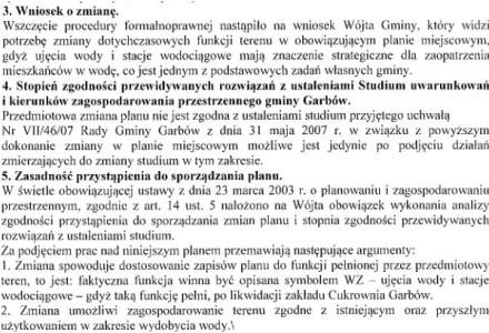 Ujęcie wody w Zagrodach – na wniosek wójta Gmina przystępuje do sporządzenia zmiany miejscowego planu zagospodarowania przestrzennego gminy dla terenu działki przemysłowej Nr 234/9