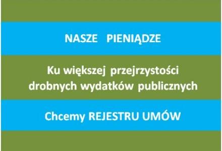 """Redaktor Naczelny """"Naszego Garbowa"""" ponownie wnioskuje o utworzenie rejestru wszystkich umów zawieranych przez Gminę Garbów."""
