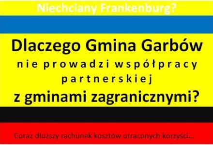 Dlaczego Gmina Garbów nie rozwija współpracy partnerskiej z Gminami Zagranicznymi? Wniosek o udostępnienie informacji publicznej
