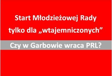 I sesja Młodzieżowej Rady Gminy Garbów bez powiadomienia mieszkańców i radnych Wspólnoty Garbowskiej.