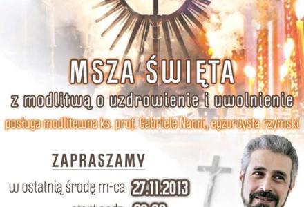 Transmisja na żywo, dzisiaj g. 20.00. Msza Święta z modlitwą o uzdrowienie i uwolnienie z udziałem egzorcysty rzymskiego prof. Gabriele Nanni.