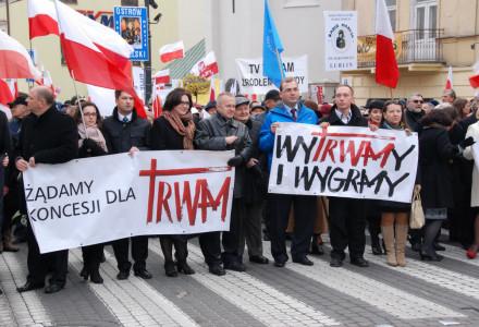 Marsz w obronie wolnych mediów i Telewizji Trwam. Lublin – 17.11.2013.