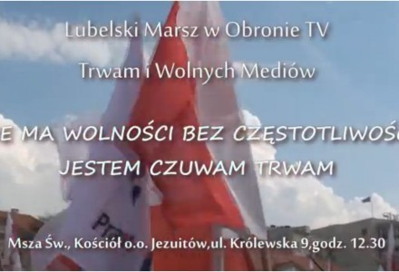 17 listopada – Lubelski Marsz w obronie TV Trwam i wolnych mediów