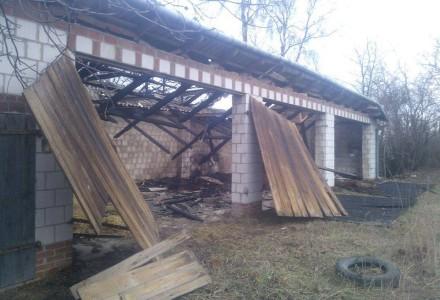 Środowy pożar w Woli Przybysławskiej.