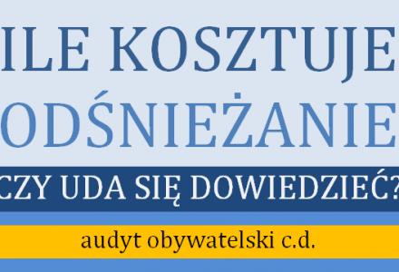 Czy uda się ustalić ile kosztuje odśnieżanie w gminie Garbów?