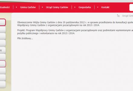 """Oficjalna strona internetowa Gminy Garbów dla """"Towarzystwa"""" i wybranych (2)"""