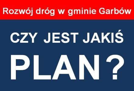Czy i jaki jest plan rozwoju sieci drogowej w gminie Garbów?