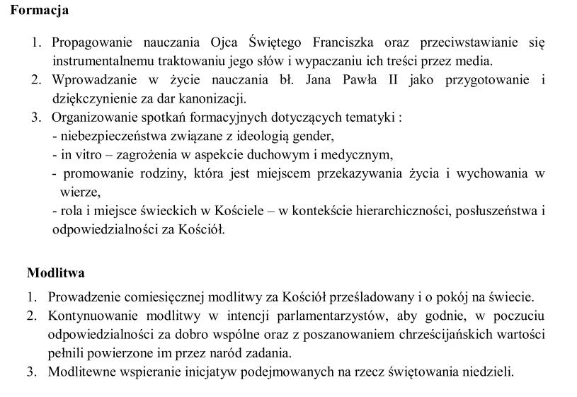 Kierunki działania Akcji Katolickiej w Polsce na 2014 rok