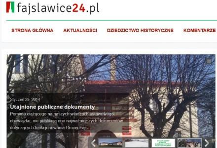 Kolejna gmina ma swoje obywatelskie media. Ruszył serwis informacyjny Fajslawice24.pl