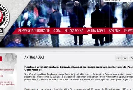CBA wykryło w Ministerstwie Sprawiedliwości aferę na 100 mln złotych