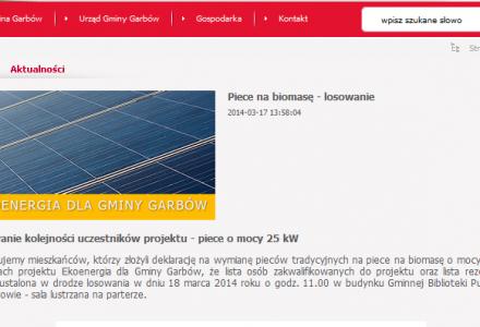"""Kto otrzyma kotły c.o. na biomasę z dofinansowaniem unijnym w ramach projektu """"Ekoenergia dla Gminy Garbów"""" – 18 marca losowanie"""