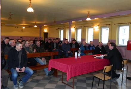 Spotkanie wiceprezesa Lubelskiej Izby Rolniczej Gustawa Jędrejka z rolnikami w Michowie