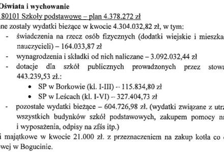 Sprawozdanie z wykonania budżetu Gminy Garbów za rok 2013 opublikowane