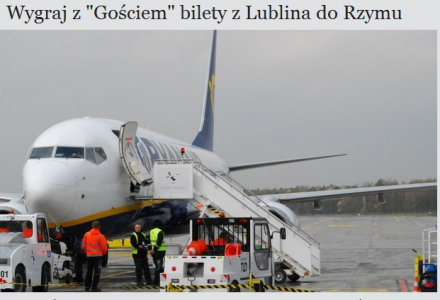 """Wygraj z """"Gościem"""" bilety lotnicze na weekend majowy do Rzymu"""