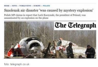 """""""The Telegraph"""": Katastrofa smoleńska """"była spowodowana przez tajemniczy wybuch"""""""