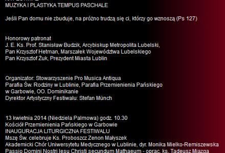Tempus Paschale 2014 – inauguracja liturgiczna Kościół Przemienienia Pańskiego w Garbowie, godz. 11.00