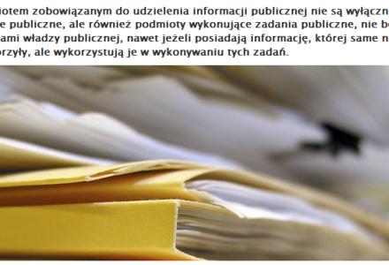 Nie tylko organ władzy publicznej udostępnia informacje