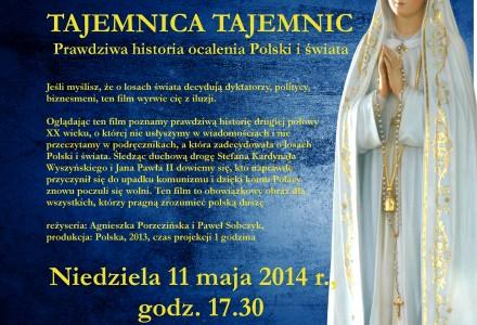 Tajemnica Tajemnic – zaproszenie na film, 11 maja 2014, godz. 17.30, Dom Strażaka w Garbowie