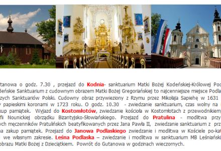 Pielgrzymka Szlakiem cerkwi i świątyń Polesia – 5 lipca 2014 r