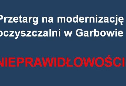 Nieprawidłowości przy przetargu na modernizację oczyszczalni ścieków w Garbowie