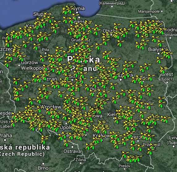 mapa protestów