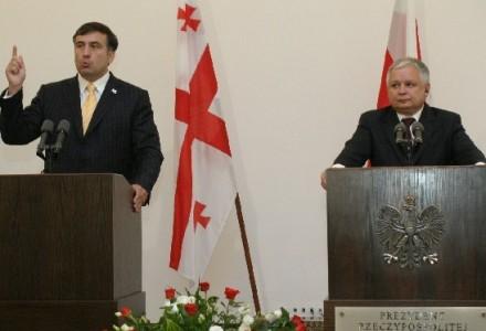 """Saakaszwili: """"Lech Kaczyński byłby teraz na Ukrainie. Tak jak był w Gruzji"""""""
