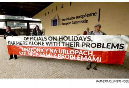 "Bruksela: protest rolników ws. ""embargowych rekompensat"""