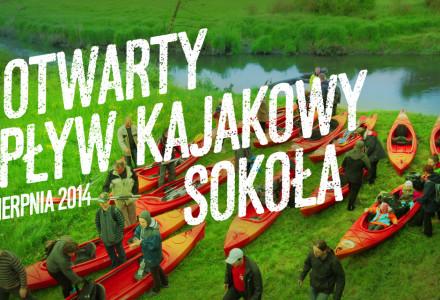 """II otwarty spływ kajakowy """"Sokoła"""" – 30 sierpnia 2014"""