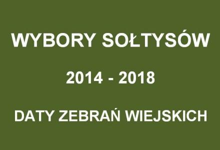 Wybory Sołtysów i Rad Sołeckich na kadencję 2014-2018