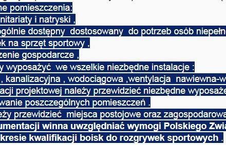 """Przetarg na opracowanie dokumentacji budowlanej pod kontenerowe zaplecze socjalne dla Klubu sportowego """"BKS Bogucin"""""""