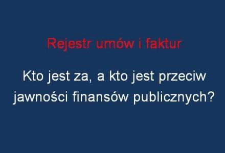 Głosowanie nad rejestrem umów i faktur. Czy radni poprą jawność i przejrzystość gminych finansów?