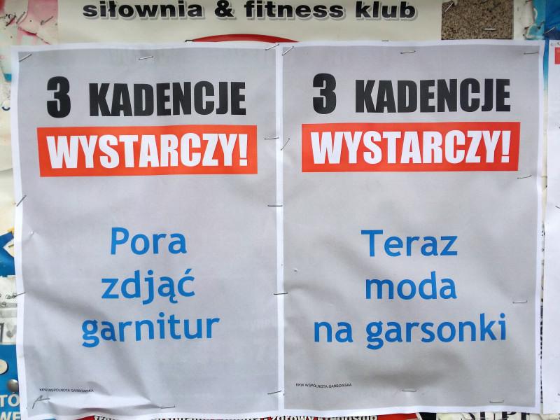 Teraz Moda Na Garsonki Plakaty Wyborcze Cd Naszgarbowpl