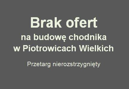 Budowa chodnika w miejscowości Piotrowice Wielkie raczej nie w tym roku