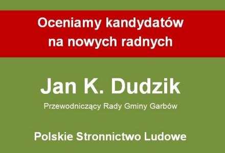 Przewodniczący Rady Gminy Jan Kazimierz Dudzik – w wiatrakowym konflikcie interesów i przeciw rejestrowi wydatków