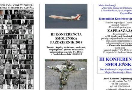 20 października 2014 – III Konferencja Smoleńska. Kłamstwa wychodzą na jaw