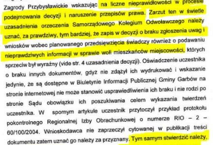 Ci, którzy zagłosowali na Kazimierza Firleja pod wpływem wrzucanego przez jego ludzi, i jego osobiście, postanowienia sądu, słusznie mogą się czuć oszukani. Wyjaśnienie redakcji.