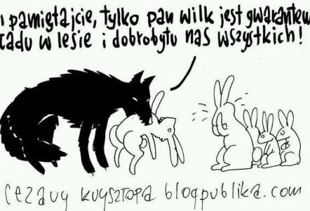 Tylko pan wilk jest gwarantem ładu w lesie… – autor: Cezary Krzysztopa [blogpublika.com]