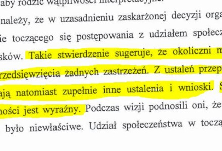 Decyzja Samorządowego Kolegium Odwoławczego, na postawie której sąd potwierdził, że wójt Kazimierz Firlej łamał prawo