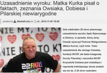 Uzasadnienie wyroku miażdży Owsiaka. Sąd potwierdza fakty podane przez blogera