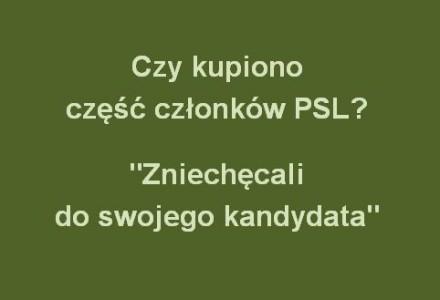 Niektórzy członkowie PSL odwodzili od głosowania na ich kandydata na wójta Romana Krawczyńskiego