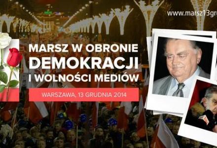 13 grudnia 2014 – Marsz w obronie demokracji i wolności mediów przejdzie ulicami Warszawy
