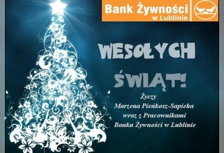 """""""Wesołych Świąt"""" – życzy Bank Żywności w Lublinie"""