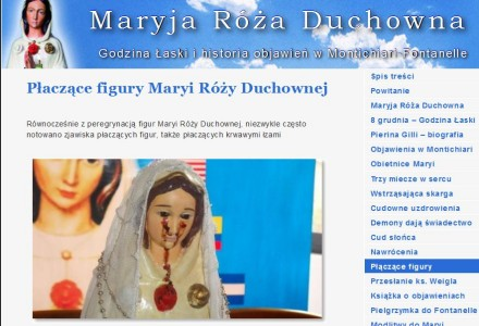 Płaczące figury Maryi Róży Duchownej