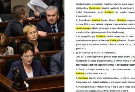 """WPOLITYCE.PL: Perfidne kłamstwa Ewy Kopacz! W przeforsowanej nocą ustawie słowo """"likwidacja"""" pada aż 49 razy!"""